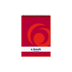 Herlitz Top Spiral-Notizbuch A6 50s, 5x5 kariert