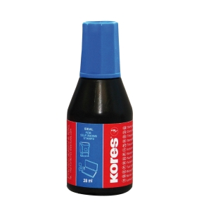 KORES 71308 Stempelfarbe 28 ml blau