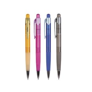 Spoko Druckkugelschreiber, Gehäuse in 4 Farben, Mine: blau, 0,3 mm, 12 Stück