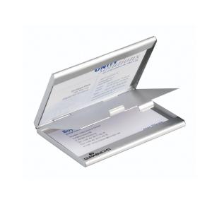 Visitenkartenbox Durable 243323 Duo, für 20 Karten, mattsilber