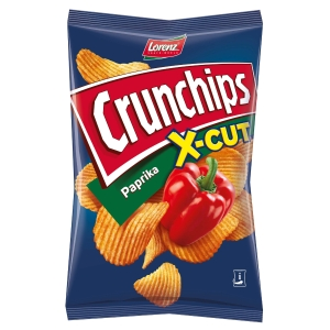 Lorenz Crunchips X-Cut Kartoffelchips Paprika 85 g