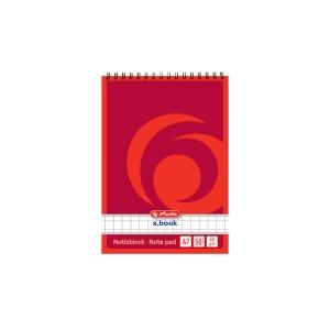 Herlitz Spiralblock, kariert, Format 5 x 5,  A7