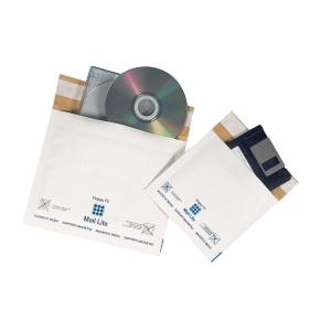 Braune CD/DVD und Disketten-Umschläge 5 1/4  180 x 160 mm, 5 Stück/Packung