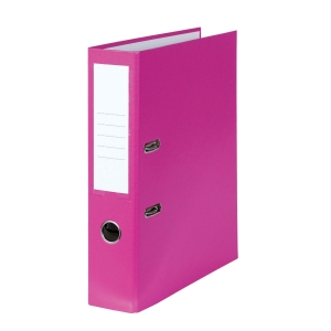 Standardordner rosa PP A4, Rückenbreite: 80 mm