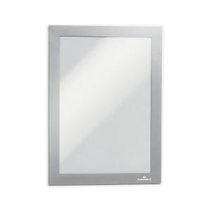 Durable Duraframe selbstklebende Infotasche, A5 Format, silber, 2 Stück