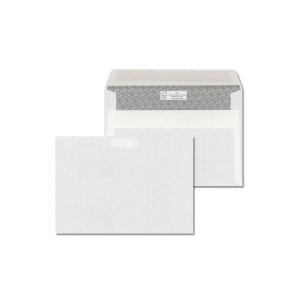C6 Briefumschläge (114 x 162 mm),  selbstklebend, Innendruck, weiss, 1000 Stück