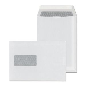 C5 Versandtaschen, selbstklebend, Haftstreifen, Fenster links, weiss, 500 Stück