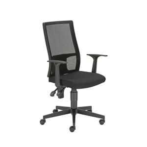 Fillo Bürodrehstuhl, schwarz, Tragfähigkeit: bis 110 kg, inkl. Armlehnen