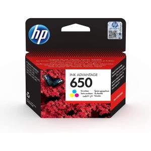 HP 650 Tintenpatrone CZ102AE cyan/magenta/gelb 200 Seiten