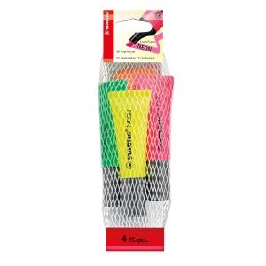 Stabilo Textmarker, Packung mit 4 Farben
