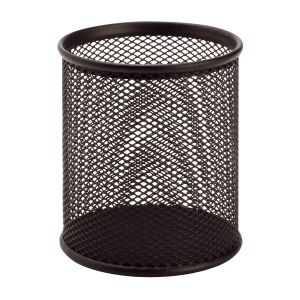 SaKOTA Stifteköcher aus Drahtmetall 100 x 80 x 80 mm, schwarz