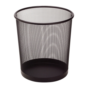 SaKOTA Papierkorb aus Drahtmetall 10l, schwarz
