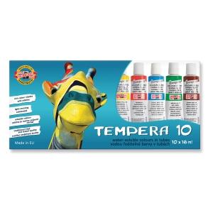 Koh-i-noor Temperafarben Packung mit 10 Farben à 16 ml