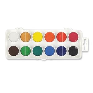 Koh-i-noor Wassermalfarben, 12 Farbkästen