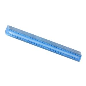 Plastiklineal, 30 cm, blau