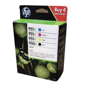Multipack HP 950XL/951XL Tintenpatrone sch/cyan/magenta/gelb 2300 + 3x 1500 S.