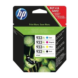 Multipack HP 932XL/933XL Tintenpatrone sch/cyan/magenta/gelb 1000 + 3 x 825 S.