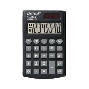 Rebell SHC208 Taschenrechner mit 8-stelligem Display