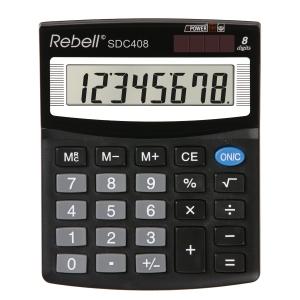 Rebell SDC408 Tischrechner mit 8-stelligem Display
