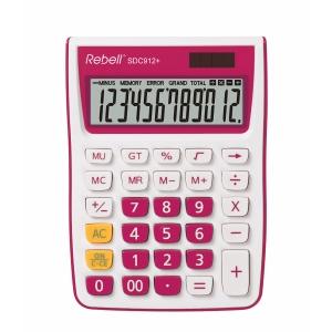 Rebell SDC912+ Tischrechner mit 12-stelligem Display, pink