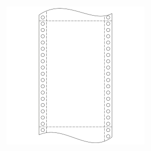 Krpa Computer-Endlospapier, 60 g/m², 21 × 30,5 cm, 1-fach