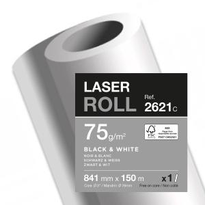 Plotterpapier in Rolle 841mm x 150 m 75g