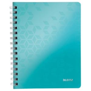 Leitz 4639 Wow Spiral-Notizbuch A5 liniert eisblau