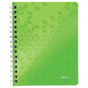 Leitz 4639 Wow Spiral-Notizbuch A5 liniert grün