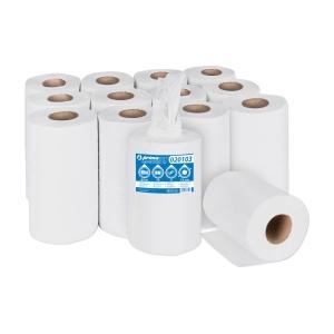 BM Plus Handtücher mit Innenabrollung 2-lagig weiß recycelt 12 Stück