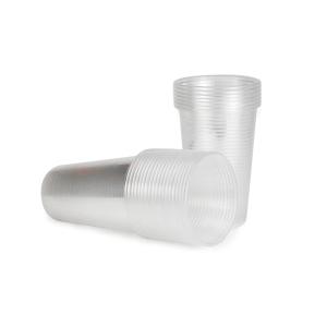 Plastikbecher transparent 200 ml, 100 Stück