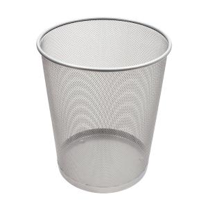 SaKOTA Papierkorb aus Drahtmetall, 18 l, silber