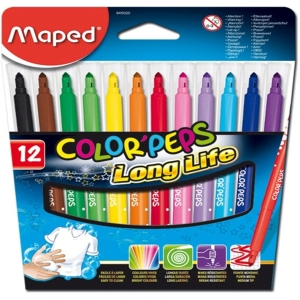 Maped ColorPeps Long Life Faserschreiber, 12 Stk