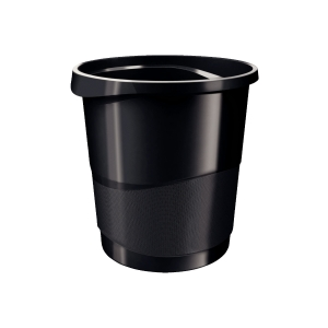 ESSELTE VIVIDA WASTE BIN 14L BLACK