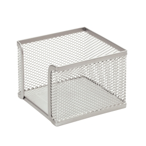 SaKOTA Zettelbox aus Drahtmetall, silber