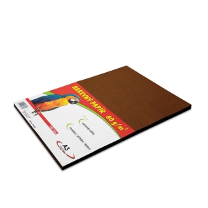 Stepa Farbpapier, 80 g/m², A3, braun, 100 Blatt