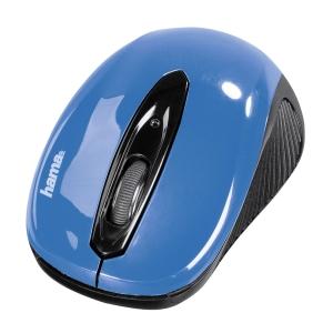 Hama AM-7300 optische Maus, kabellos, blau/schwarz