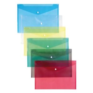 Schutzhüllen mit Druckknopf, 12 Stk, A4, rot
