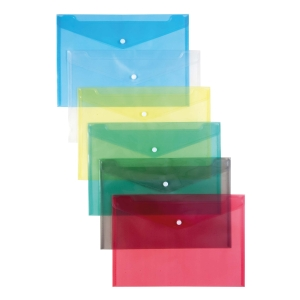 Schutzhüllen mit Druckknopf, 12 Stk, A4, transparent
