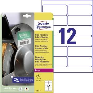 Avery ultra-resistente Etiketen, Modell: L7913-10, Größe: 99,1 x 42,3 mm, weiß