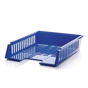 Briefkorb mit Griffausschnitten A4+ blau