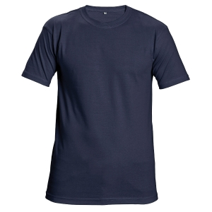 T-Shirt kurzarm, Baumwolle, Größe XL, marineblau
