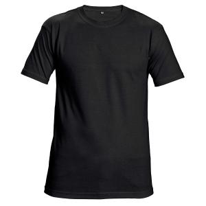 Unisex T-Shirt kurzarm, Baumwolle, Größe L, schwarz
