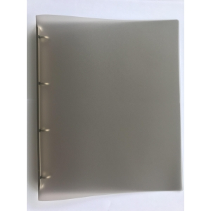 Ringbuch PP mit 4 Ringen Ø20 mm, rückenbreite 25 mm, transparent rauchgrau