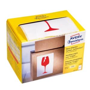 Avery Zweckform Symbol Warnetiketten Zerbrechlich, 200 Etiketten per Packung