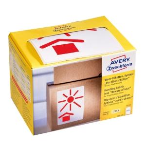 Avery Zweckform Symbol Warnetiketten Vor Hitze schützen, 200 Etiketten per Pkg