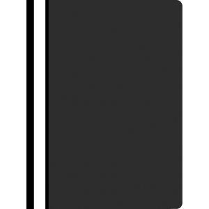 Schnellhefter nicht gelocht PP A4, schwarz, 25 Stück