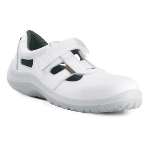 OMEGA LUX S1 Sandalen mit Klettverschluss, Größe 37, weiß