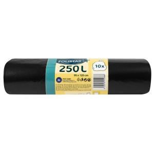 Alufix Economy Müllbeutel Rolle 240 l, schwarz, 10 Stück