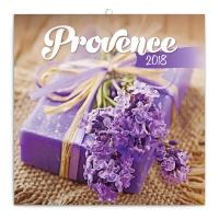 Poznámkový kalendár Provence – voňavý, 30 x 30 cm