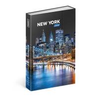 Týždenný magnetický diár New York 2018, 10,5 x 15,8 cm